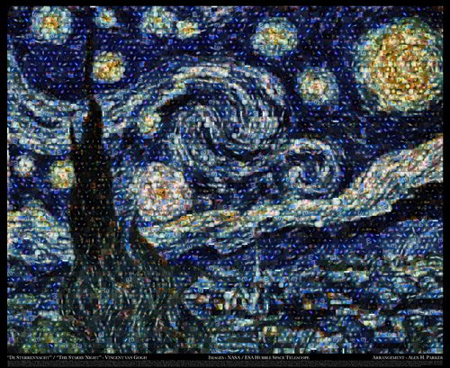 Hubble telescope anniversary photo mosaic