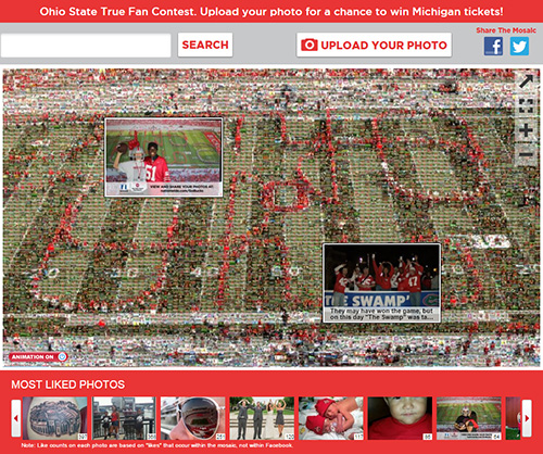 The OSU True Fan Photo Mosaic