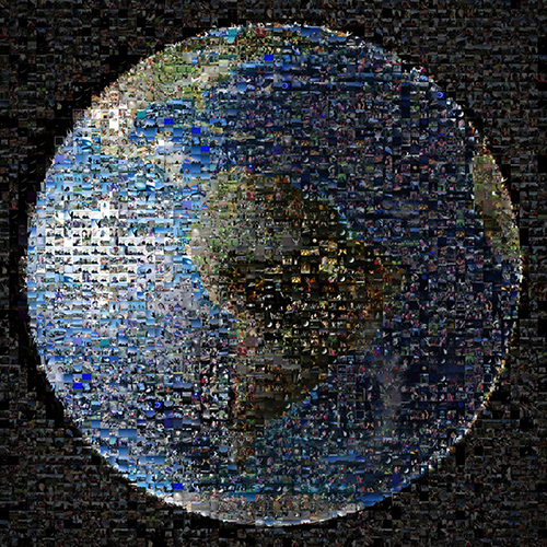A Worldwide Photo Mosaic