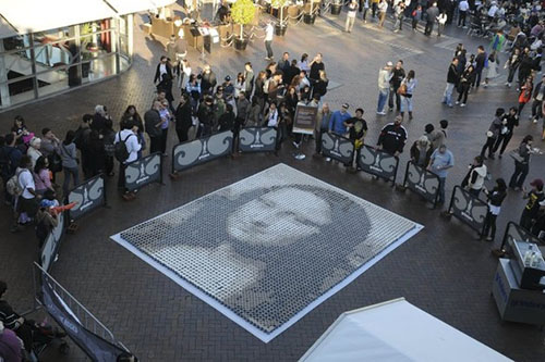 Mona Lisa Coffee Mosaic – The Rocks Aroma Festival Launch 2009